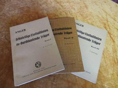 Zehnteilige Einflusslinien für durchlaufende Träger, G. Anger, Ostzonenausgabe - Zeuthen
