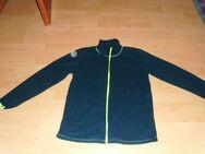 Fleecejacke, dunkelblau mit Neon-Reißverschluss, Gr. 40/42 - Bad Harzburg