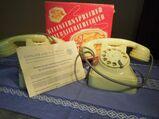 Kleinfernsprechanlage Typ KF 04 / Haustelefon Langlotz & Co. DDR / Spielzeug