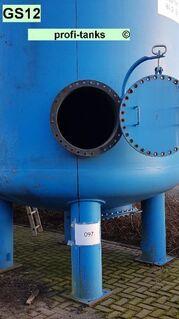 GS12 gebrauchter 26.000 L Stahltank Kiesfilter Drucktank Wasserzisterne Wassertank Normstahl Lagertank zur Filtration Epoxidharzauskleidung Düsenboden - Nordhorn
