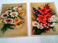 Alte Postkarten von der 50 o.60 Jahre /7 Postkarten mit Blumenbilder - Zerbst (Anhalt) Zentrum