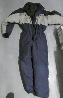 Skianzug, Schneeanzug, Skioverall, Schneeoverall, Gr. 152, blau-grau - Bibertal