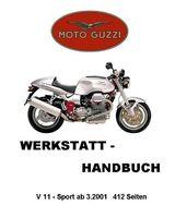 Werkstatthandbuch Moto Guzzi V 11 Sport  ab 3.01.in deutsch !