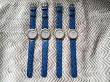Armbanduhren mit Echt Leder Armband und Werbung. Preis pro Stück!