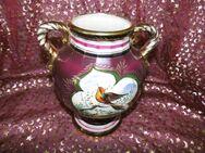 Alte H. BEQUET Quaregnon Blumenvase, goldverziert / Vase Amphore Keramik Belgien - Zeuthen