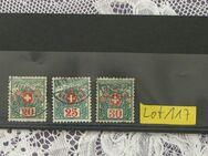Schweiz Porto Marken 1910  Mi.Nr.34-36,Lot 117