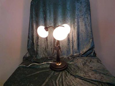 Kultige Tischlampe 3 flammig / Wohnzimmer Lampe... | markt ...