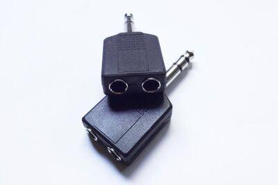 2 St. Stereo Y-Adapter 6,3mm Klinkenstecker auf 2 x 6,3mm Kupplung - Andernach