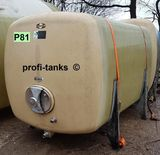 P81 gebrauchter 6.000 L Polyestertank GFK-Tank Speidel-Tank Lagertank Flüssigfuttertank Wassertank Molketank Melassetank Regenwassertank Rapsoeltank