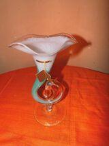 Wunderschöne Vase KASPAR single art, Glaskunst / Glasvase, Dekoration NEU