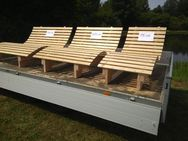 Relaxbank Sinnesbank 1,5m Sonnenliege Holzbank Gartenliege - Wadern