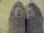 Sehr schöne Sneaker Schuhe in beige mit silbernen und goldenen Steinchen in Größe 38, neu - Recklinghausen