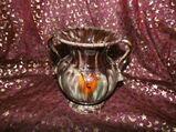 Keramikvase Jasba Keramik um 1970 / geflammt, glasierte Amphore / Designervase