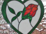 Fensterbild Tiffanyglas Herz/Blume - Krefeld