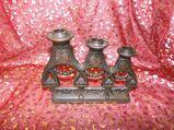 Kerzenständer für 3 Kerzen / Leuchter Matroschka Form / Bronze / UdSSR- Souvenir