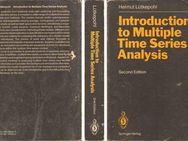 Buch Helmut Lütkepohl - Introduction to Multiple Time Series Analysis - 1993 - Zeuthen