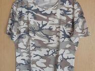 T-Shirt mit Muster creme/kaki, Gr: 40/42 - Immenhausen