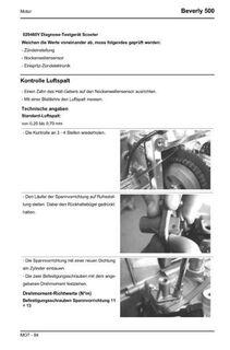 Beverly 500 Werkstatthandbuch 2005 - Bochum