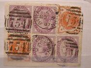 Großbritanien 1896,Mi.GB.,D7+D8.34-39,Lot 288