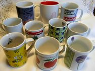 Werbetassen- Konvolut  bestehend aus 10 Tassen unterschiedlicher Firmen - Niederfischbach