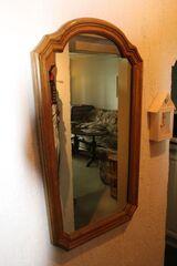 Wandspiegel mit Voll-Holzrahmen; Spiegel, Flurspiegel; 48 x 80cm
