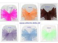 Verleih Organza Stuhlschleifen/ Bänder in verschiedene Farben. - Marsberg