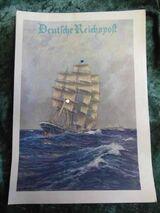 Schmuckblatt Telegramm Deutsche Reichspost C 187 - LX 2 / Segelschiff