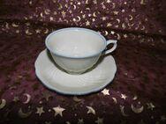 Antike Kaffeetasse + Untertasse Seltmann Weiden / Farbe. beige, blau - Zeuthen