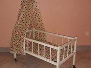 Himmel Holz Puppen Bett auf Rollen Vintage 50er Jahre - Nürnberg