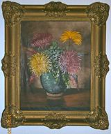 """"""" Chrysanthemen """" Ölgemälde von W.L.Rangé"""
