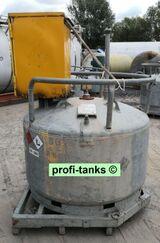 S33-5 gebrauchte 950 Liter mobil-Tankstelle mit Zapfsäule Stahltank doppelwandiger Kraftstoffcontainer Treibstoff Lagertank