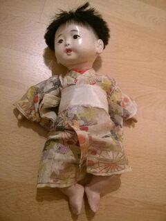 2 x antike Ichimatsu Ningyo Puppe - Augsburg