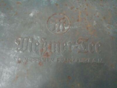 Große alte Blechdose von Meßmer Tee. - Kassel Brasselsberg