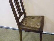 Schöner Jugendstil Stuhl mit Korbgeflecht / Holzstuhl / Stuhl - einzeln - Zeuthen