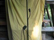 Stehlampen-Strahler schwarz Metall mit Seitenarm - Bad Belzig Zentrum