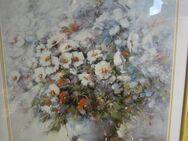 Verglaster goldener Wechselrahmen mit Blumenbilddruck von Fetess - Bad Belzig
