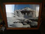 Wandbild,Foto,Am Inn im Engedin,Schweiz,Holzrahmen,Alt,ca. 35x28 cm - Linnich
