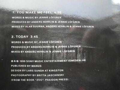 Jennie Löfgren: You Make Me Feel. CD Single 1999 EAN 509976668521, 2,50 - Flensburg