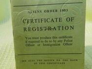 Befristete Aufenthaltserlaubnis für Groß Britannien 1958 / Student Oxford - Zeuthen