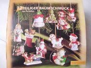 12 teiliger Porzellan Christbaumschmuck Anhänger - Saarbrücken