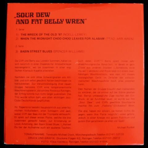 Sour Dew And Fat Belly Wren, featuring Rosie on Washboard (EP) - Niddatal Zentrum