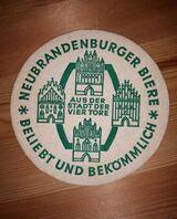 Neubrandenburger Biere AUS DER STADT DER VIER TORE Bierdeckel BD Bierfilz
