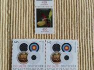 4 Briefmarken 150 JAHRE DEUTSCHER SCHÜTZENBUND -- FRAUENSCHUH NEU - Hagen (Stadt der FernUniversität) Dahl