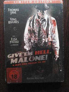 DVD Give'em Hell, Malone! Steelbook Limited Edition - Leck