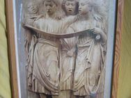 verglastes Wandbild mit hellem Vollholzrahmen: Cantoria Luca Della Robin - Bad Belzig Zentrum