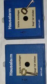 Hausalarmtaster auf Putz blau Zettler zu Ersatzzwecke