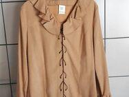 Bluse mit Trompetenärmeln, camel, Größe: 40/42 - Immenhausen