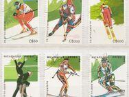 Olympia-Briefmarken 1992 Albertville von Nicaragua -3 (356) - Hamburg