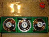 Eierbecher-Set von QUIST, NEU, noch in Originalkarton, 3 Eierbecher mit Löffel, Edelstahl rostfrei, Nr. 2476