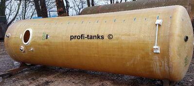 P93 gebrauchter 11.000 L Polyestertank GFK Juno-Tank vertikal stehend Rapsöltank Molketank Melassetank Futtermitteltank Wassertank Lagertank Gülletank - Nordhorn